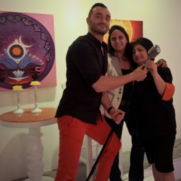 A band of 3 - with Armen Kostanyan (Managing Partner), Chef Hermine