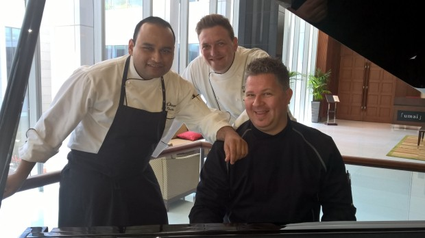 Hitting the right note with Chef Vishal Khulbe (Excutive Sous Chef), Mathias Herbarth (Speciality Souf Chef Western Cuisine) and Chef Dirk