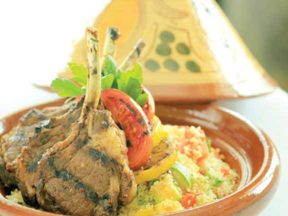 Lamb Chops at the Moroccan Restaurant