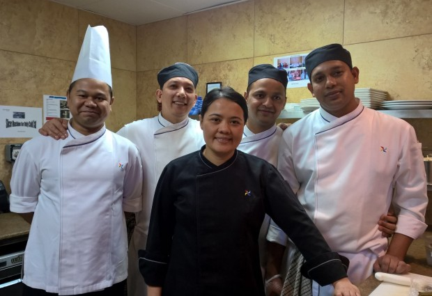 Chef Lesti with part of her army of 70
