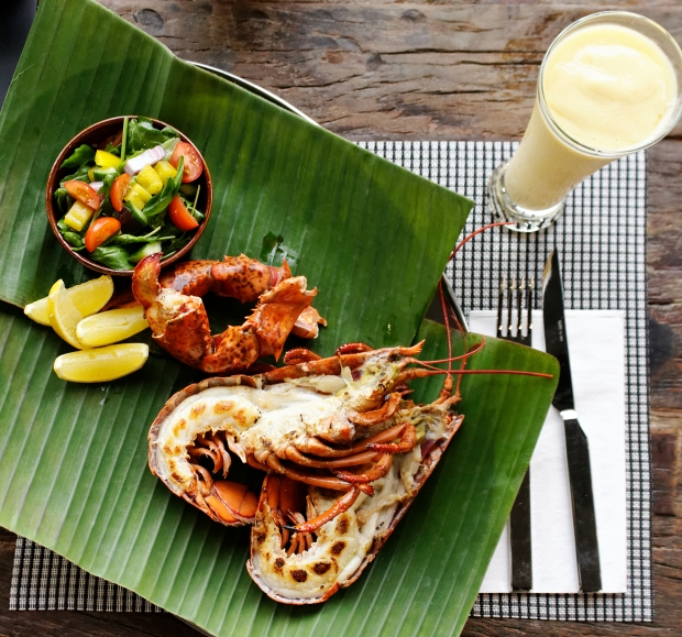 Grilled_Canadian Lobster and Mango Smoothie