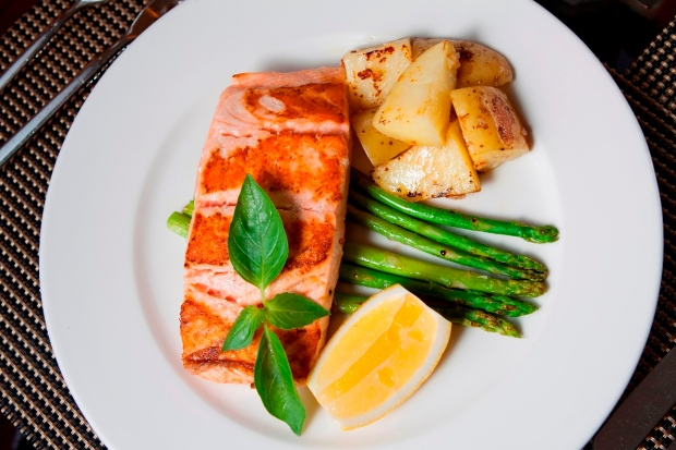 Herb crusted fillet of Salmon